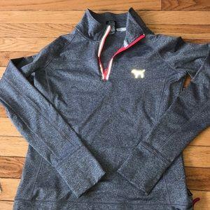 3-4 zip PINK athletic jacket
